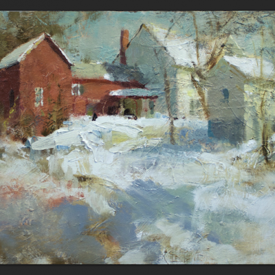 """Morristown, Vermont"" Oil on board. 12x18 inches"