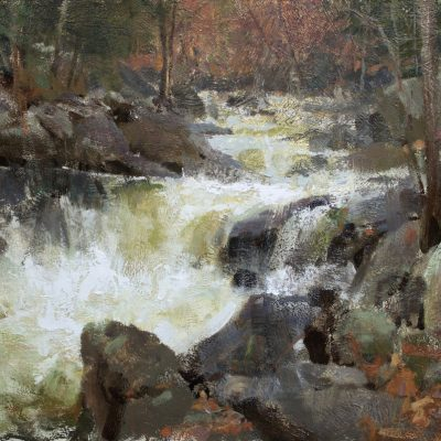 """West Branch, New Hampshire"" Oil on Board. 17x24 inches"
