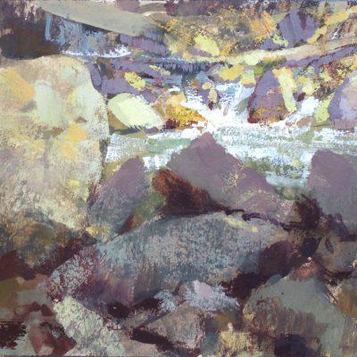 """Little Cottonwood Creek"" Gouache on watercolor paper. 6.5x9.5 in. $550"