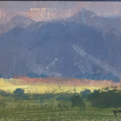 """Montana Storm"" Gouache on watercolor paper. 4.25x6 in. $350"