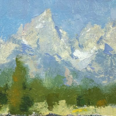 """The Tetons"" Oil on board. 6x10 in. $650"
