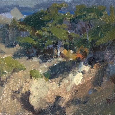"""""""Abstraction of Point Lobos"""" Oil on canvas. 8x10 inches. Available"""