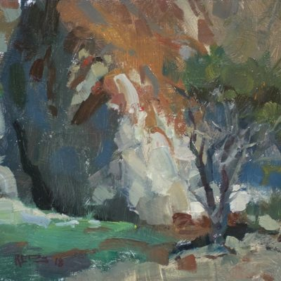 """""""China Cove"""" Oil on board. 8x10 inches. Available"""