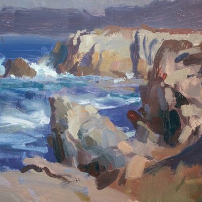 """Edge of Point Lobos"" Oil on board. 12x16 inches. Available"