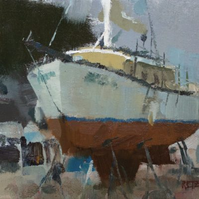 """""""Monterey Sailboat II"""" Oil on canvas. 8x10 inches. Available"""