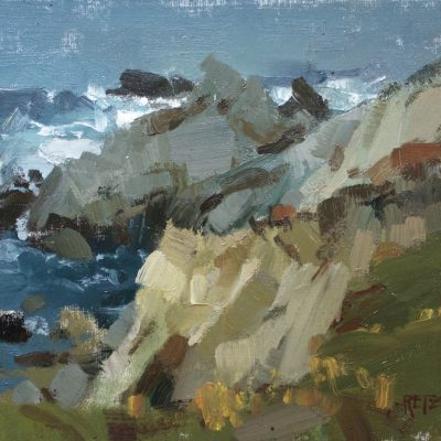 """""""Overcast Pacific Grove"""" Oil on canvas. 8x10 inches. Available"""