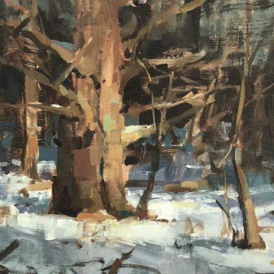 """""""Winter Spotlight"""" Oil on canvas. 14x20 inches. Available"""