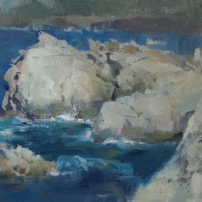 """""""White Cliffs"""" Oil on canvas. 8.5x14 inches. Available"""