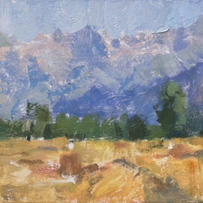 """""""Utah Morning"""" Oil on board. 8x15 inches. $1000"""