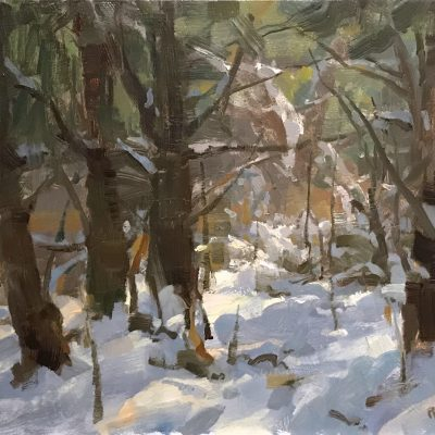 """Glowing Woods"" Oil on canvas. 14x18 inches. $1500"