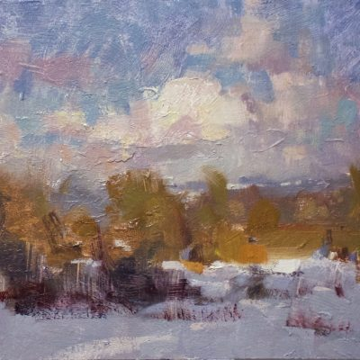 """Winter Afternoon"" Oil on board. 10x12 inches. $750"