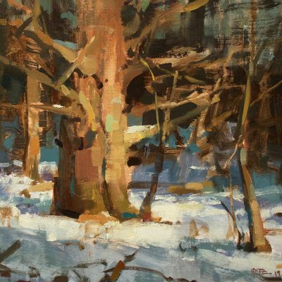 """Winter Spotlight"" Oil on canvas. 14x20 inches. Available"