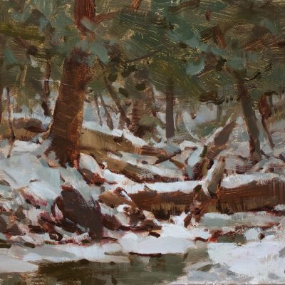 """Up Houghton Creek"" oil on canvas. 11x14 inches. $900"