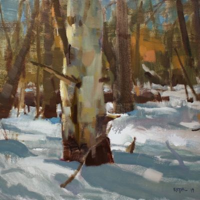 """""""Up on Cady Hill"""" oil on canvas. 16x20 inches."""