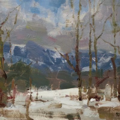 """""""Mt. Mansfield"""" oil on canvas. 11x14 inches."""