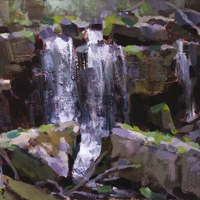 """""""Above the Falls"""" 10x18 in. oil on board. Available"""