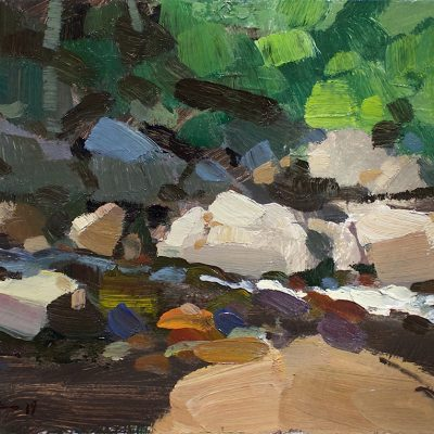 """""""River Evening"""" 8x12 inches. oil on board. Available"""