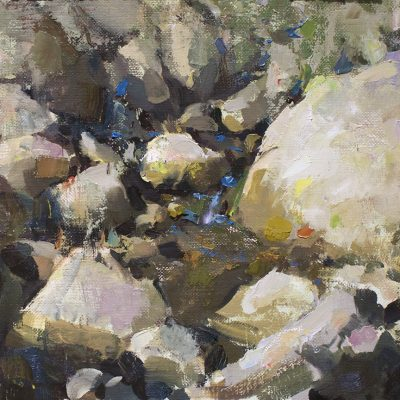 """Creek Composition"" oil on canvas. 10x14 in. Available"