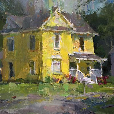 """Town House"" oil on board. 10x11 in. Available"