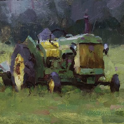 """Morning in the Field"" oil on board. 8x12 in. Available."