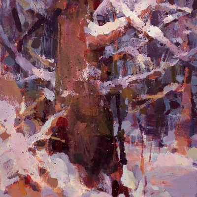 """November Snow"" acrylic on board. 11.5x6.5 in. Available"