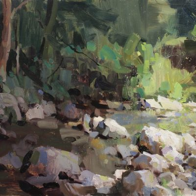 """Summer Stream"" oil on board. 24x34 in. available"