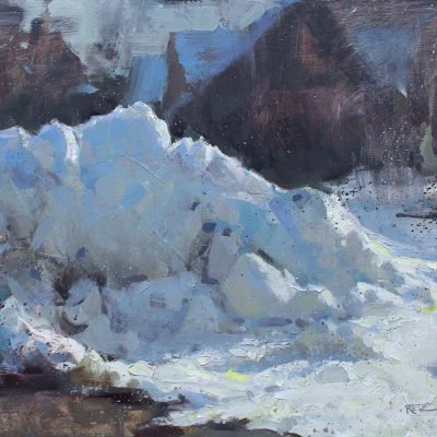 """Snowbank"" oil on board. 15.5x20.5 in. available"