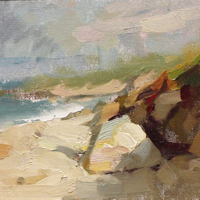 """""""Dune Shadow"""" 6.5x11 in. oil on canvas"""
