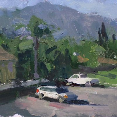 """The Rancho District I (Burbank)"" 7.25x10 in. oil on board. available."