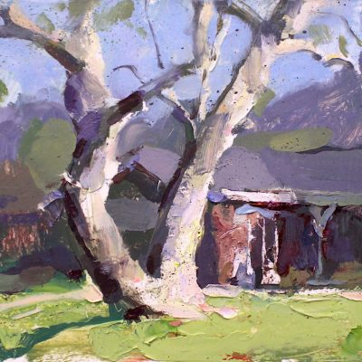 """""""The Rancho District III (Burbank)"""" 7.25x11 in. oil on board. sold."""