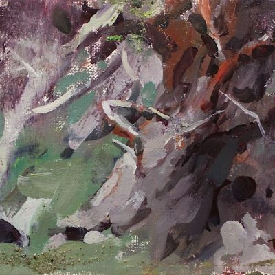 """Trees of Point Lobos"" 6x8 inches. Oil on canvas. available"