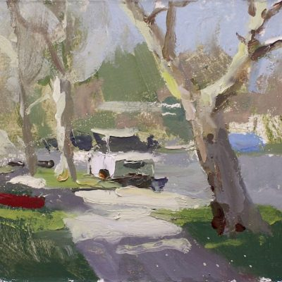 """The Rancho District II (Burbank)"" 7.25x11 in. oil on board. available."