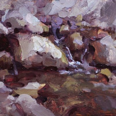 """""""Study of Rocks"""" oil on board. 6.5x8.75 in. available"""