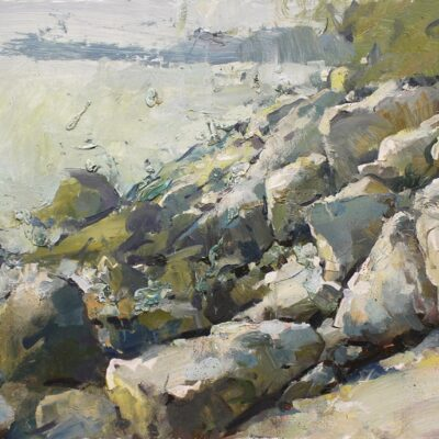 """Owls Head Coast"" oil on board. 12x16 in. available"