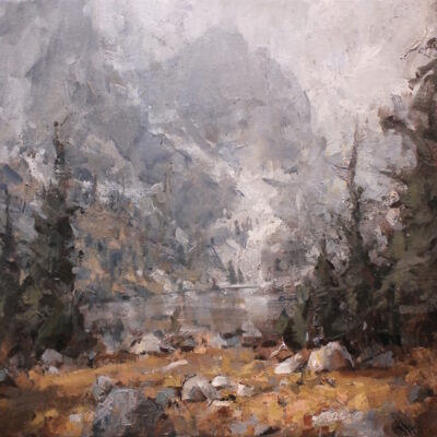 """Moody Eastern Sierra"" oil on canvas. 20x30in. sold"