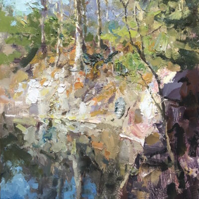 """Quarry Reflection"" oil on board. 16x12in. available"