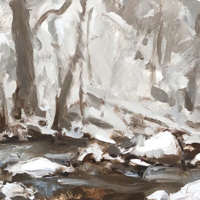 """Winter Sketch 1"" oil on board. 7x11.5in available"