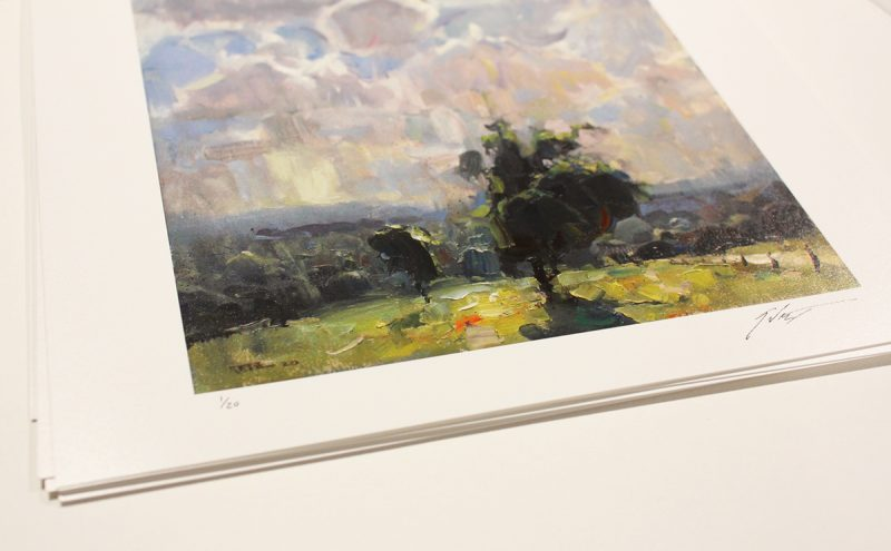 Clouds over the Countryside Limited edition print 2/3