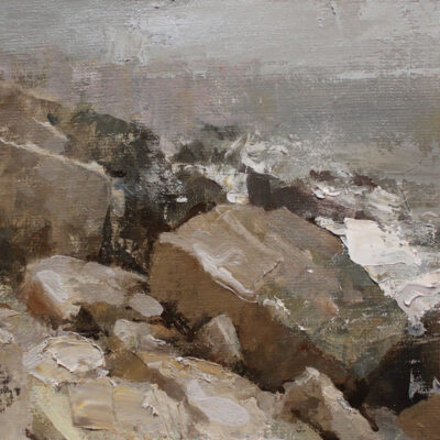 """""""Maine Coast Study"""" 8.5x11in. oil on linen. available"""